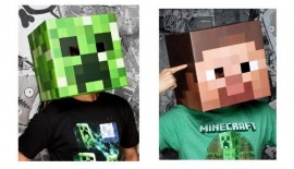 Official Minecraft head masks