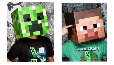 Official Minecraft head masks