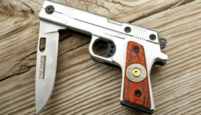 Gun Folding Knife