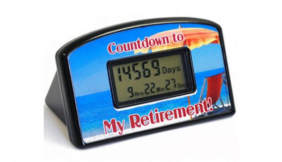 Countdown to Retirement Timer
