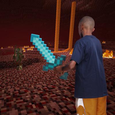 minecraft-diamond-sword-foam