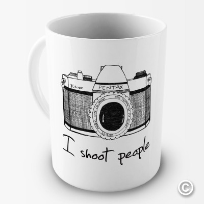 i shoot people mug