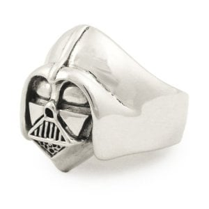 silver darth vadar ring