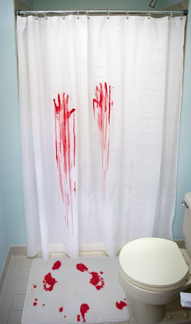 Horror Movie Shower Curtain Bath Mat