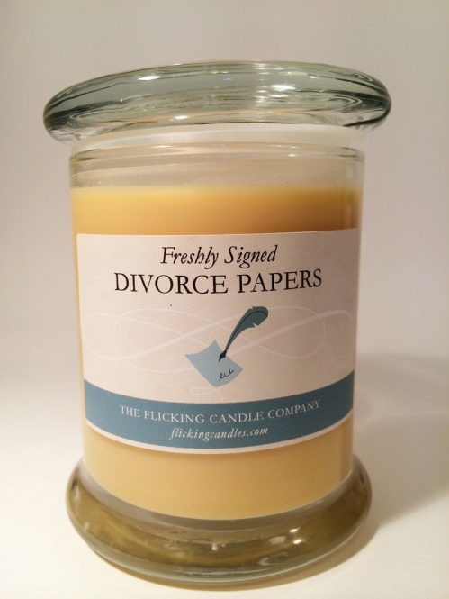 Freshly Signed Divorce Papers Scented Candle