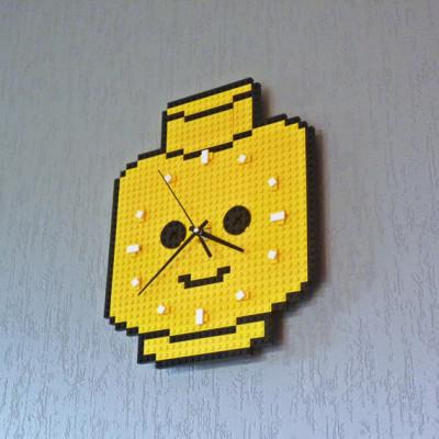 Lego Head Wall Clock