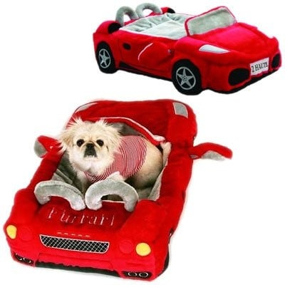 Red Furarri Dog Bed