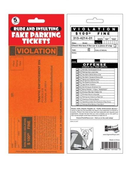 Fake Parking Ticket