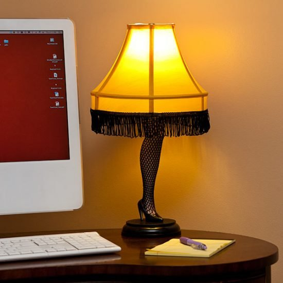 The Christmas Story Leg Lamp.A Christmas Story Desktop Leg Lamp