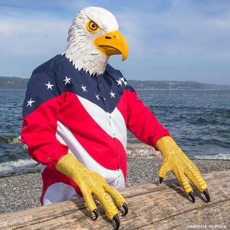 Bald Eagle Mask with Talons