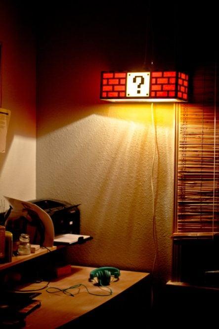 Mario Question Mark Block Light