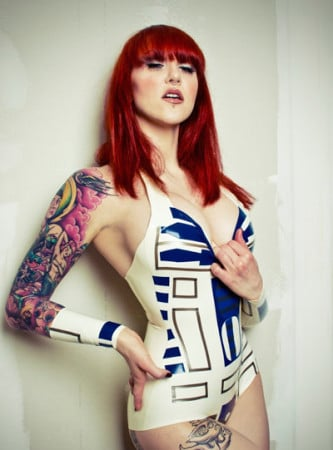 R2D2 Latex Body Suit