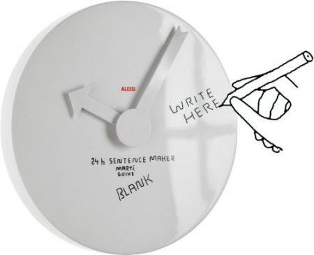 Blank Whiteboard Wall Clock
