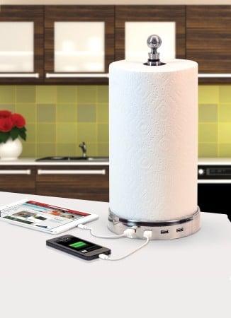 USB Hub Paper Towel Speaker Tower