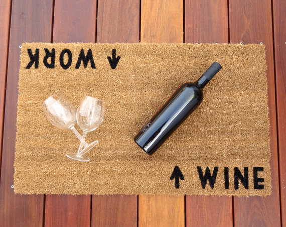 work-wine-welcome-mat