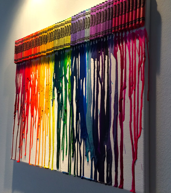Melted crayons on canvas awesome stuff to buy for How to melt crayons on canvas