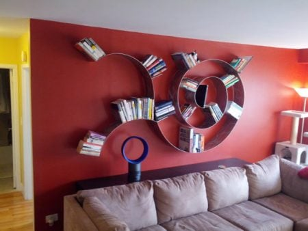 Trailing Spiral Bookshelf