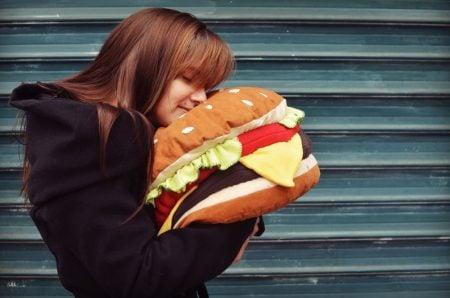 Giant Hamburger Pillow