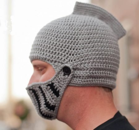 Crochet Knight Hat Beanie