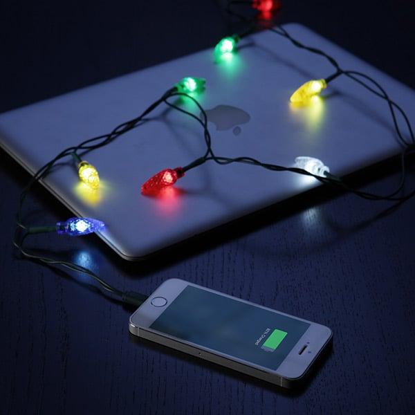 christmas light usb iphone charger