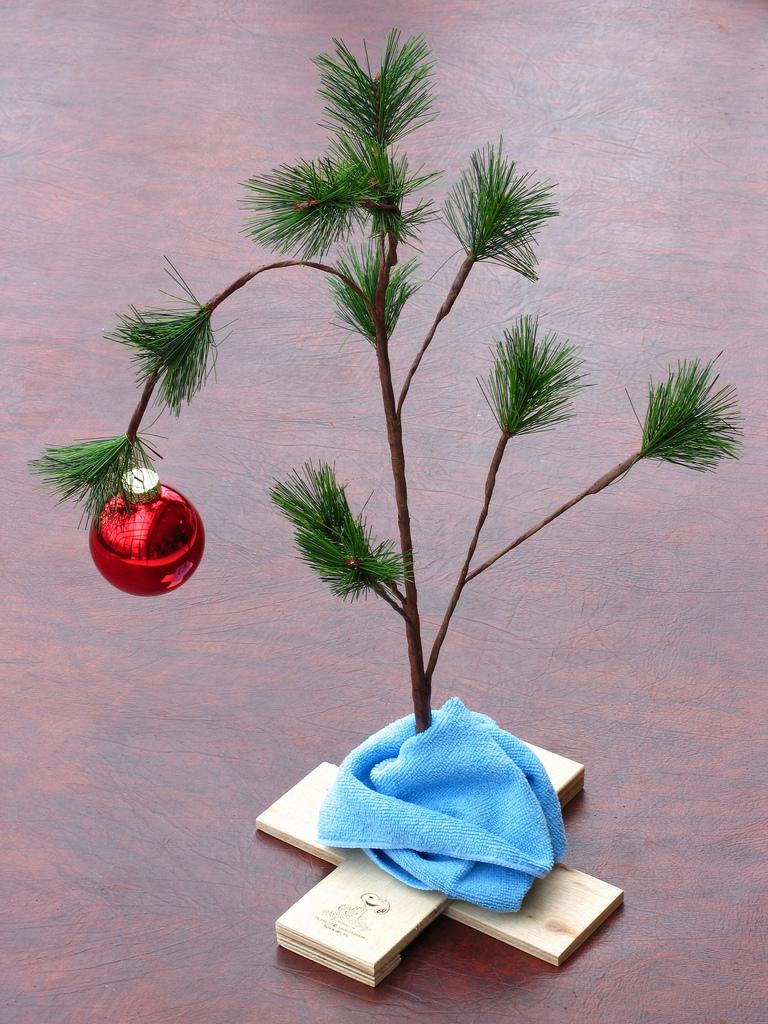 Charlie Brown Christmas Tree Image.Charlie Brown Christmas Tree
