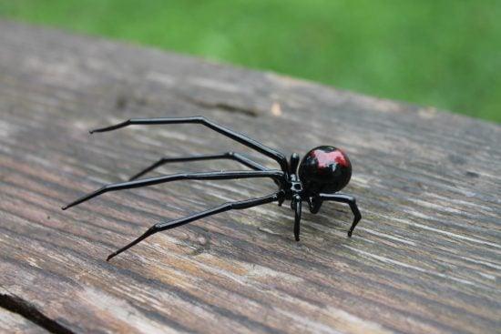 Glass Blown Spider Figurine
