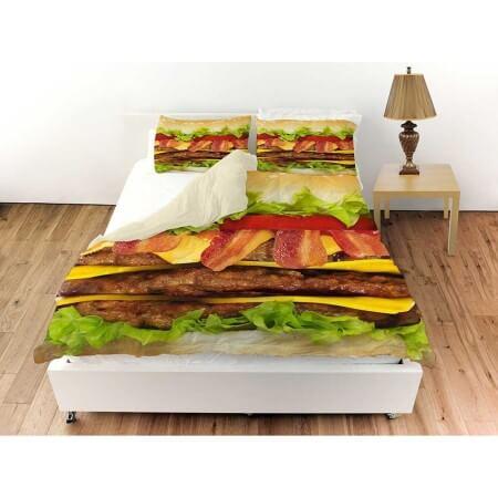 Cheeseburger Bed Sheets