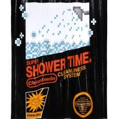 NES Cartridge Shower Curtain