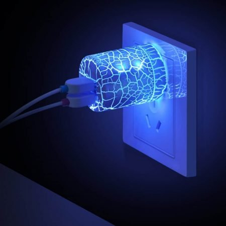 Glowing USB Wall Charger