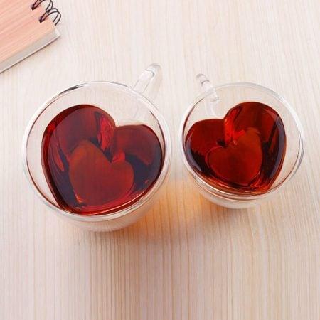 Heart Shaped Tea Cups