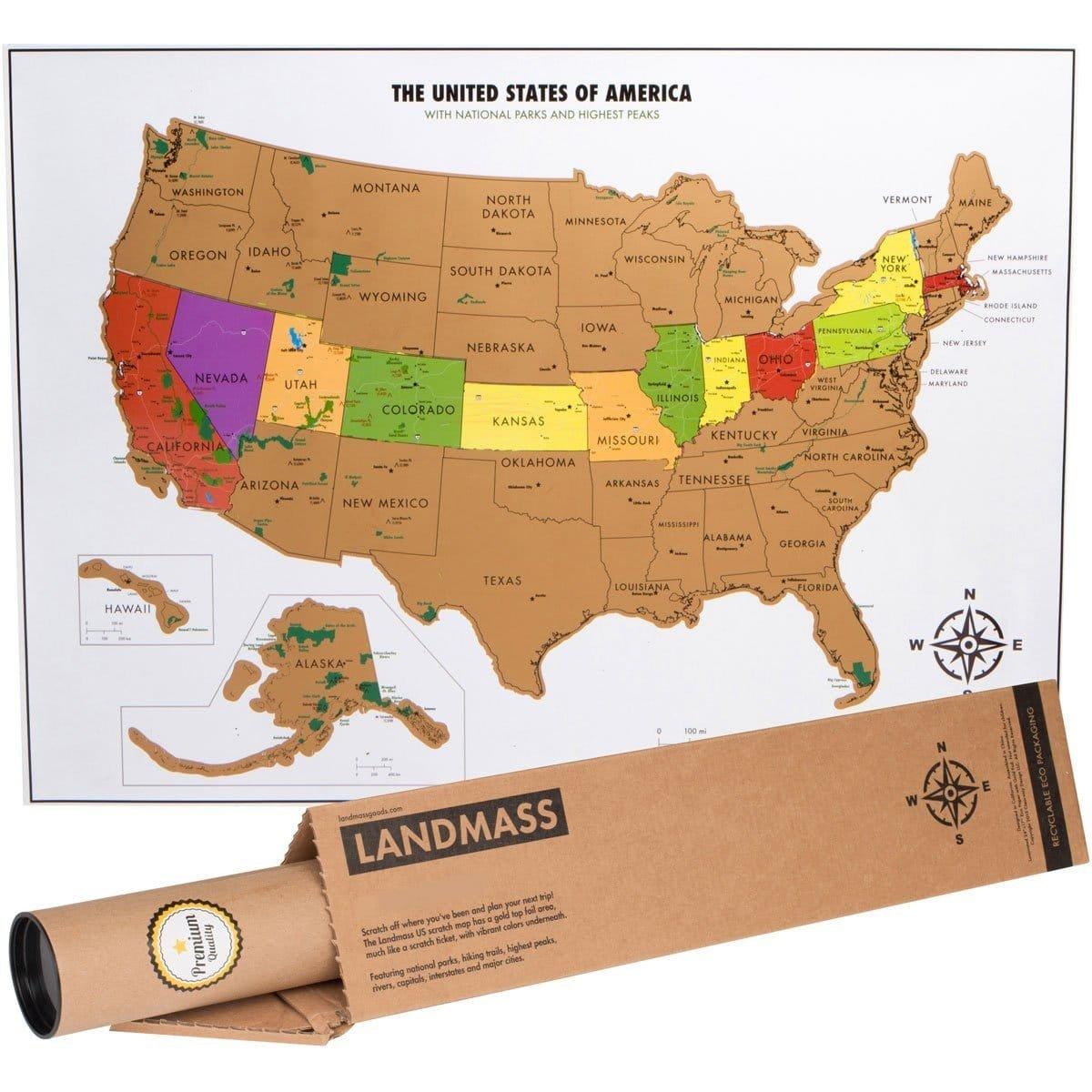 Us Parks Scratch Off Map