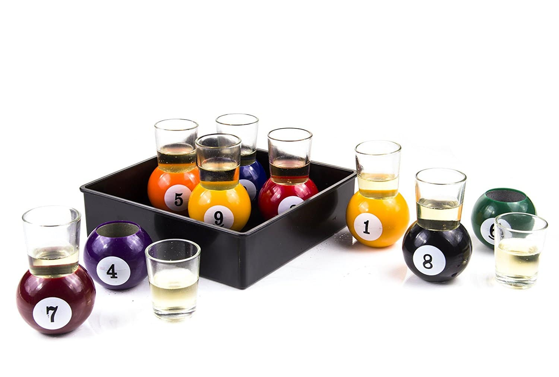 Pool Ball Shot Glasses 3