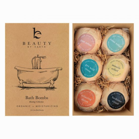 Beauty by Earth - Organic Bath Bombs Variety 6pk