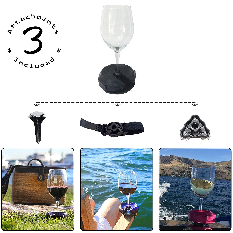 Outdoor Wine Glass Holder