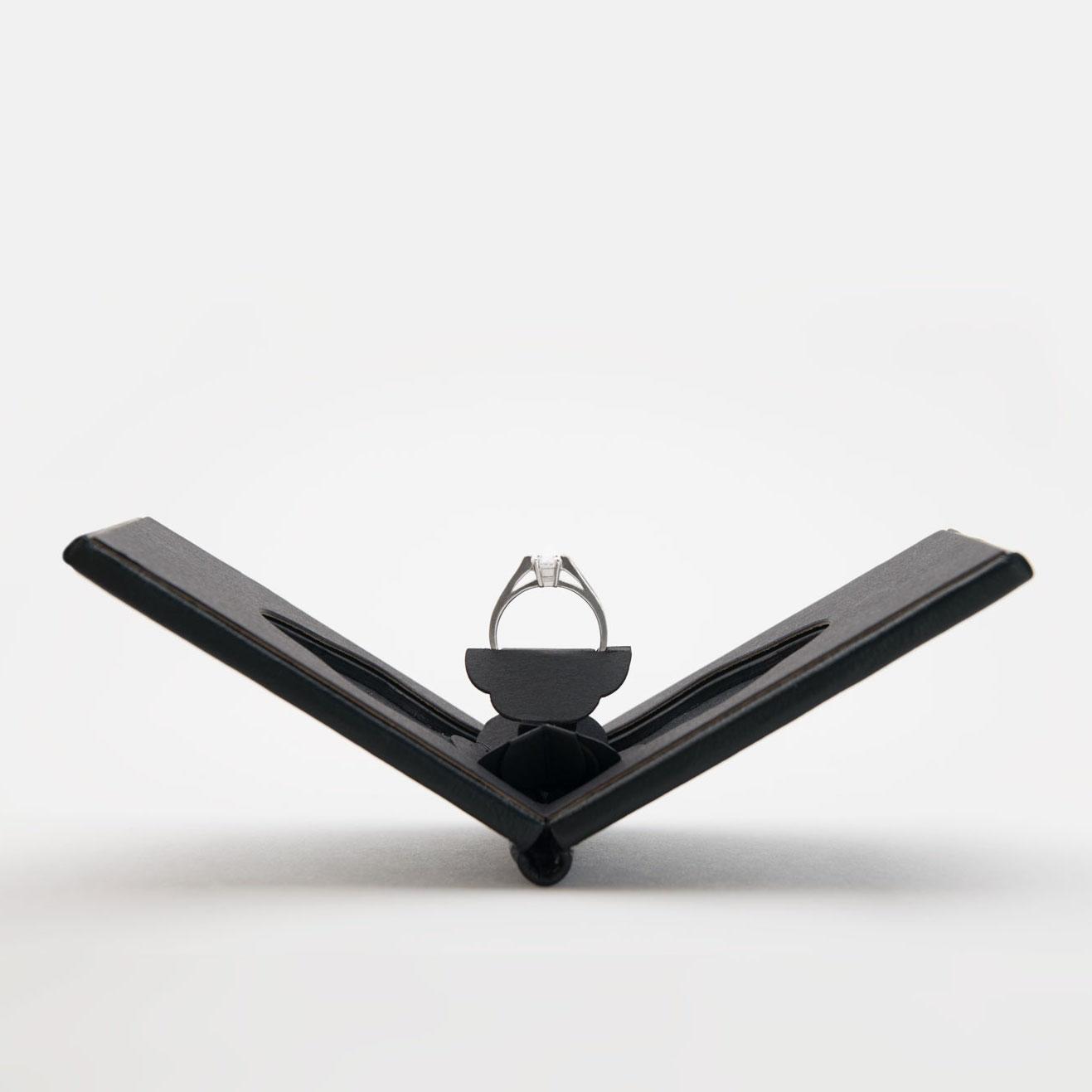 Slim engagement ring case for Slim engagement ring box