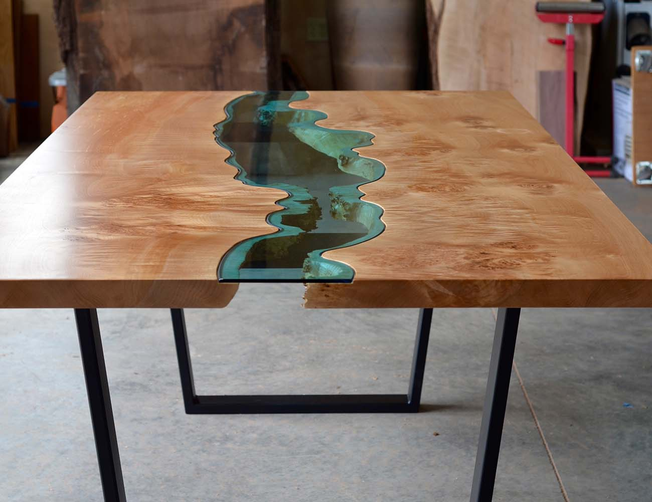 Burled River Coffee Table