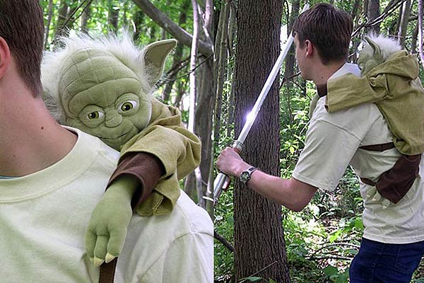 Yoda Jedi Training Backpack - coolthings.us