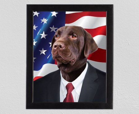 Personalized American Dog Portrait