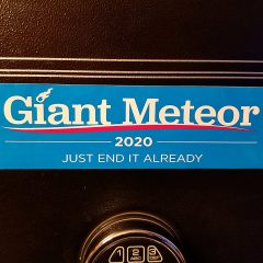Giant Meteor 2020 Bumper Sticker