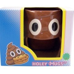 Poop Emoji Coffee Mug with Cookie Holder