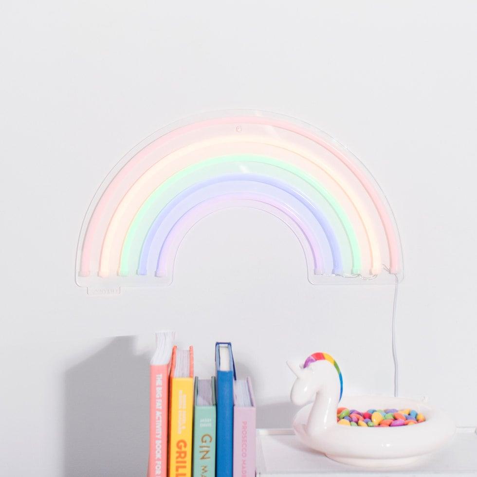 Rainbow neon wall light aloadofball Image collections