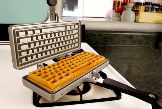 The Keyboard Waffle Iron