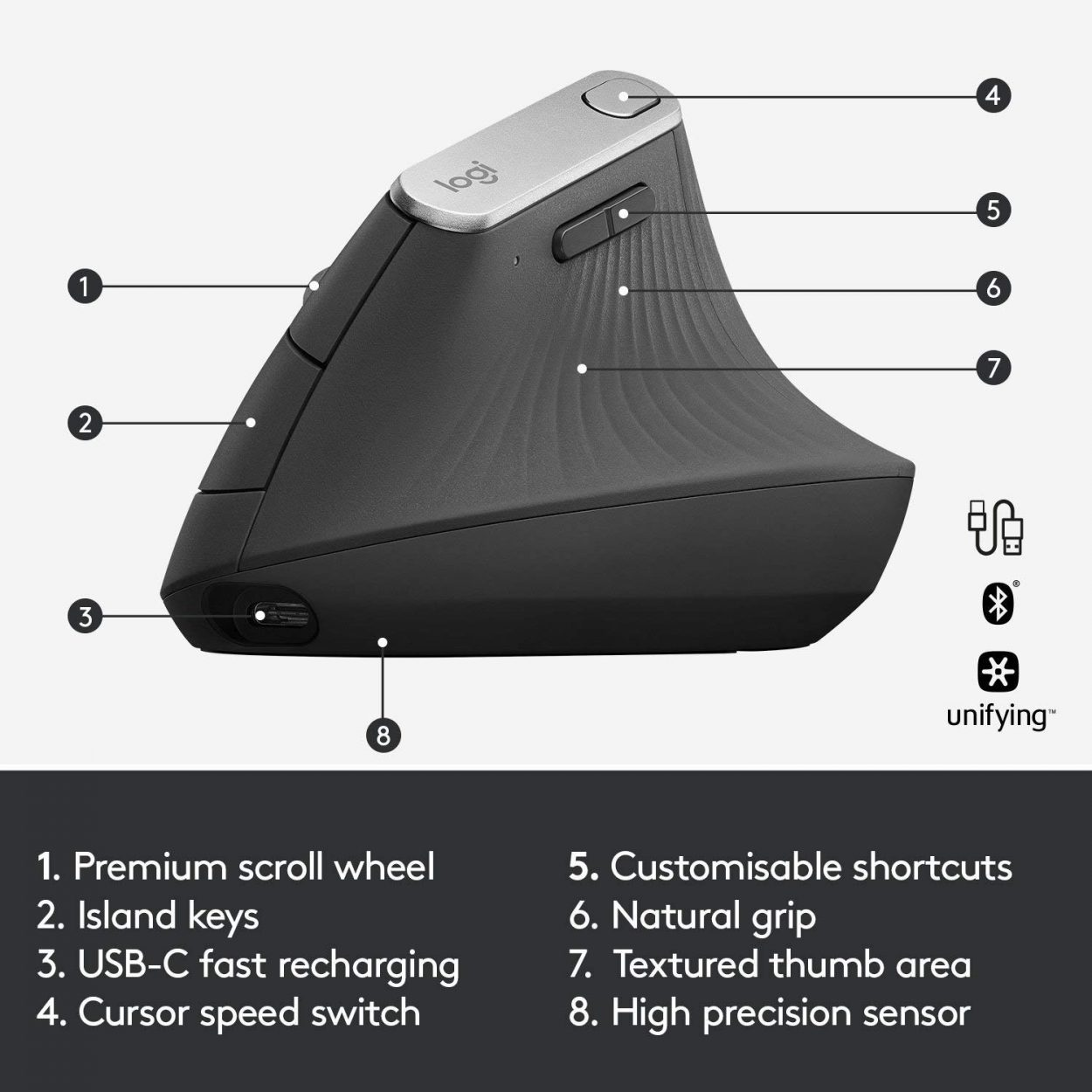 Logitech Vertical Ergonomic Mouse