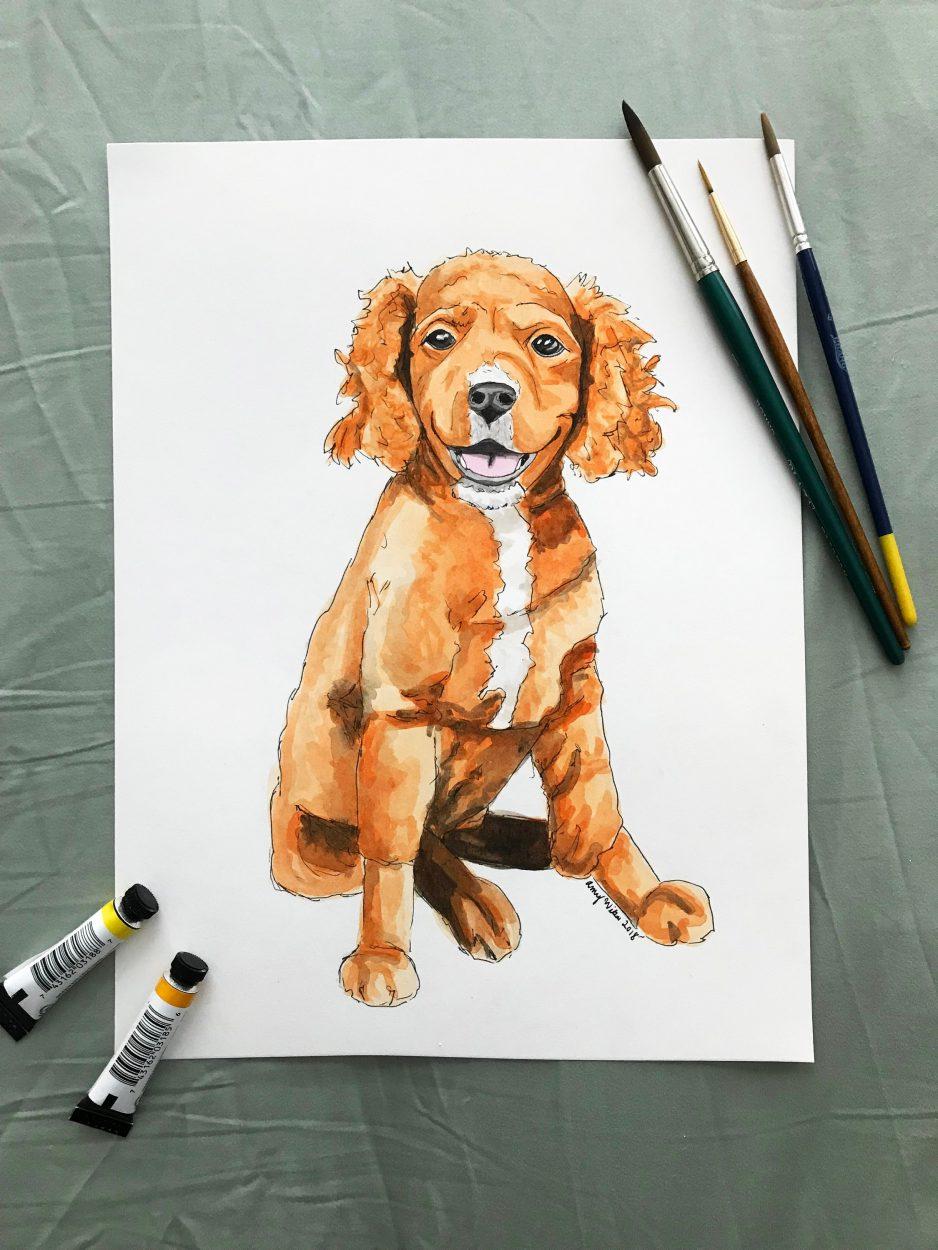 Personalized Pet Portrait Watercolor