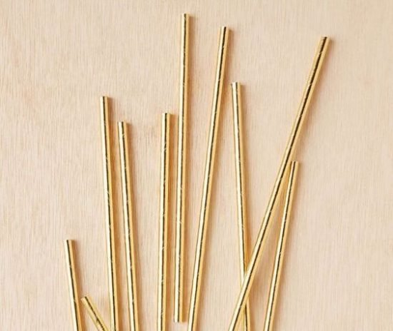 Gold Foiled Straws