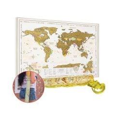 Gold Scratch Off Map