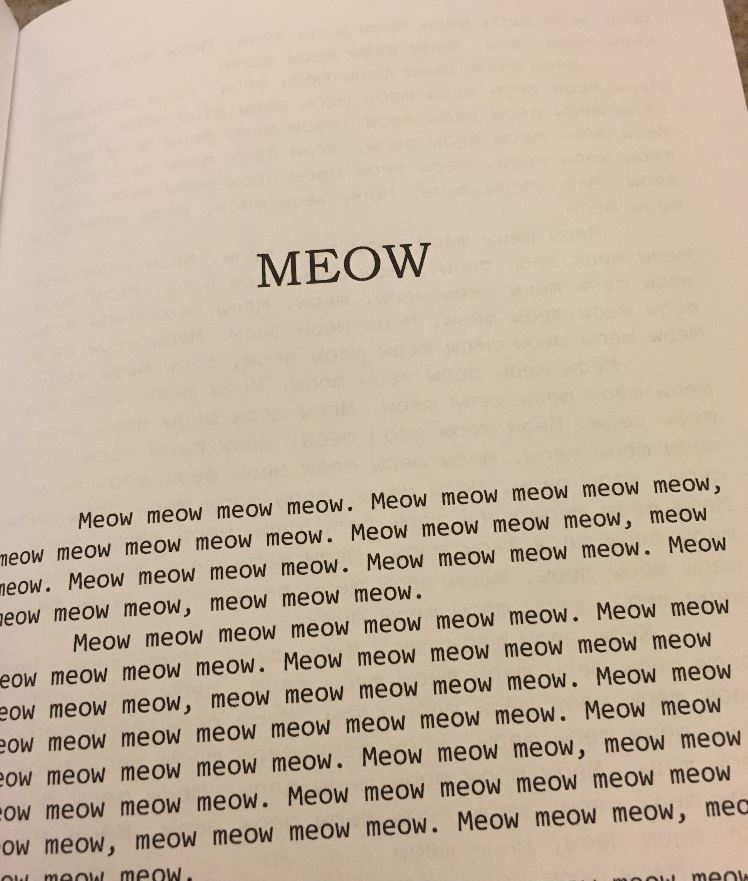 Meow The Book for Cats