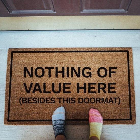 Nothing Of Value Here Doormat
