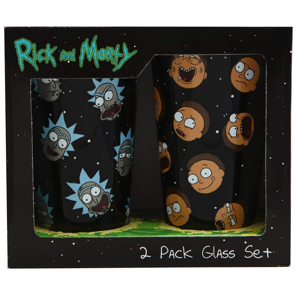 Rick and Morty Pint Glass Set
