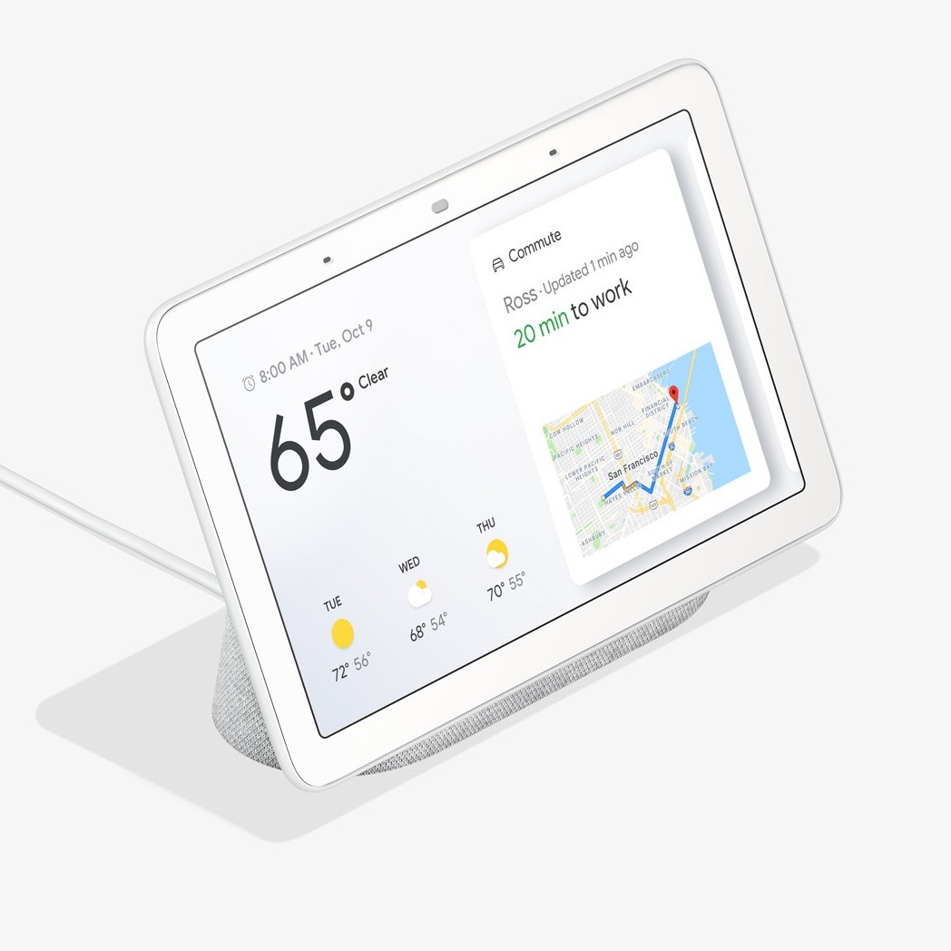 google home smart hub display. Black Bedroom Furniture Sets. Home Design Ideas